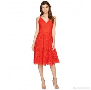 Adelyn Rae Laureen Lace Midi Dress
